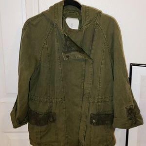 Anthropologie HEI HEI Lace Anorak Utility Jacket
